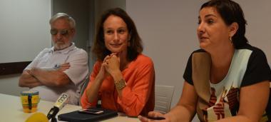 Richard Fournier, président du collectif Handicaps, Isabelle Champmoreau, membre du gouvernement en charge notamment du handicap, et Séverine Evain-Bretesché, responsable du conseil du handicap et de la dépendance.