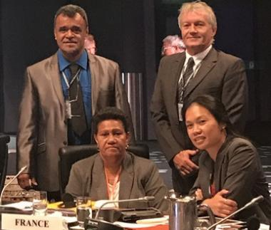 Pour la deuxième fois, la Nouvelle-Calédonie a siégé au sein du comité régional, aux côtés de la France, représentée par Anne Rouault, attachée scientifique à l'ambassade de France à Canberra.